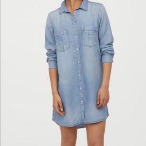 Long, straight-cut shirt H&M size 36